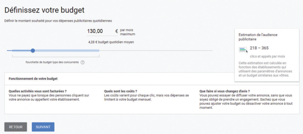Définir son budget Adwords Express